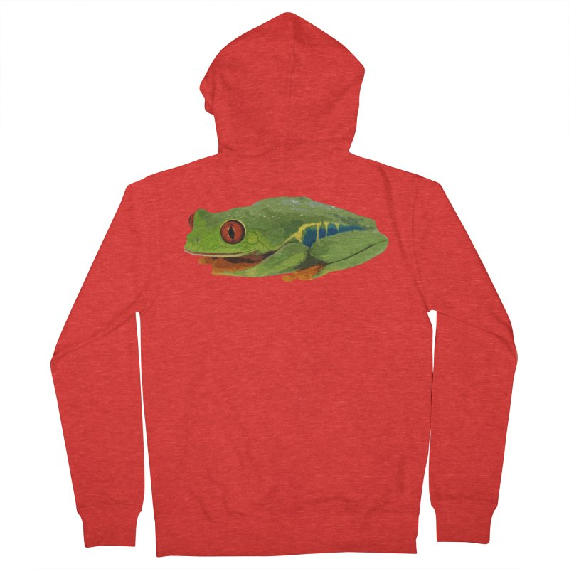 Red-Eyed Tree Frog Men's Zip-Up Hoody by Gary Mc Alea Photography's Artist Shop