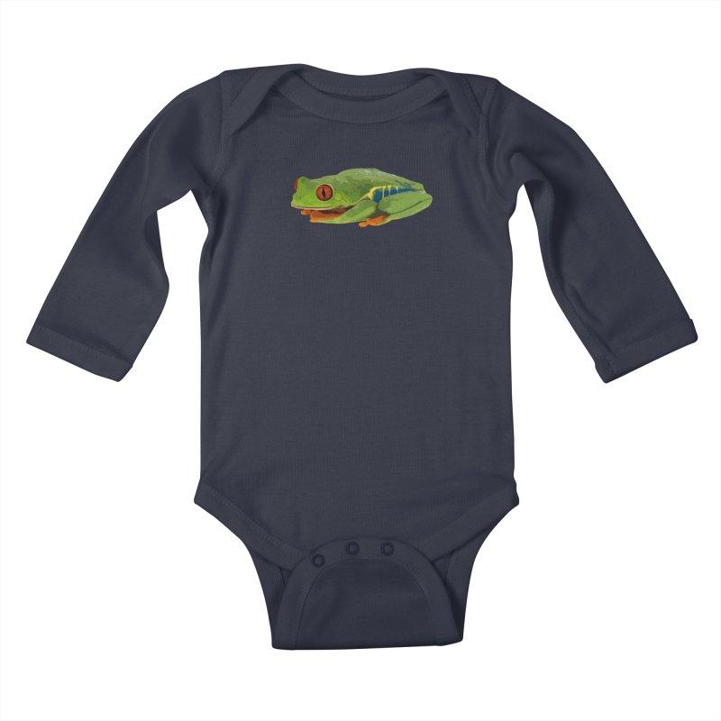 Red-Eyed Tree Frog Kids Baby Longsleeve Bodysuit by Gary Mc Alea Photography's Artist Shop