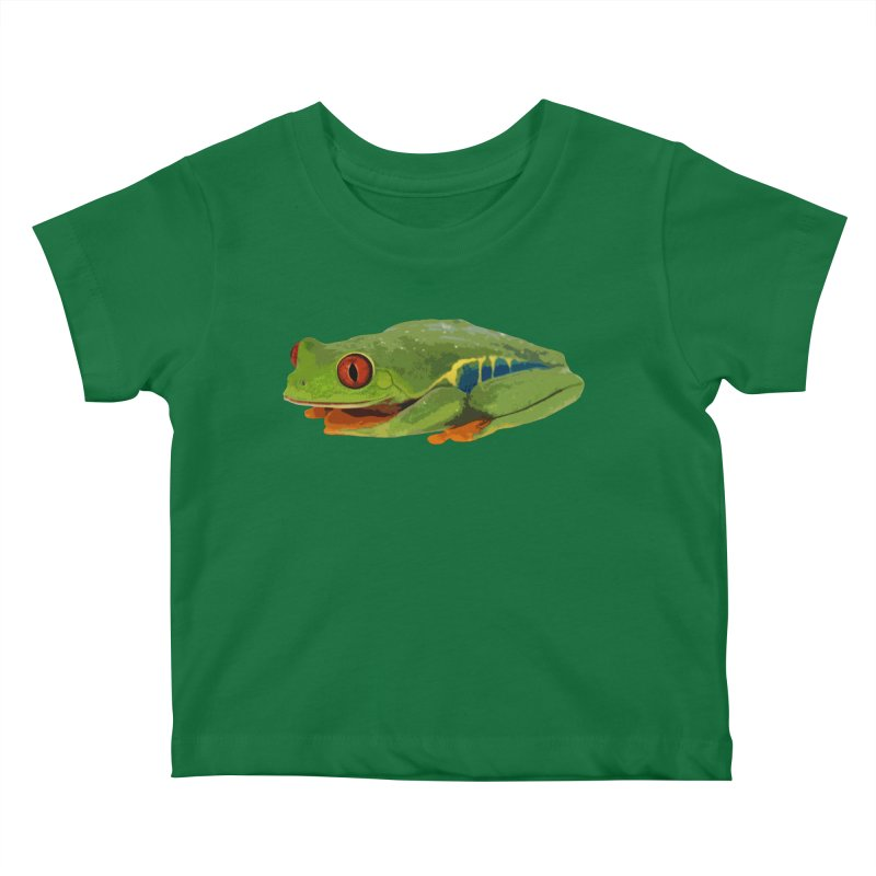 Red-Eyed Tree Frog Kids Baby T-Shirt by Gary Mc Alea Photography's Artist Shop