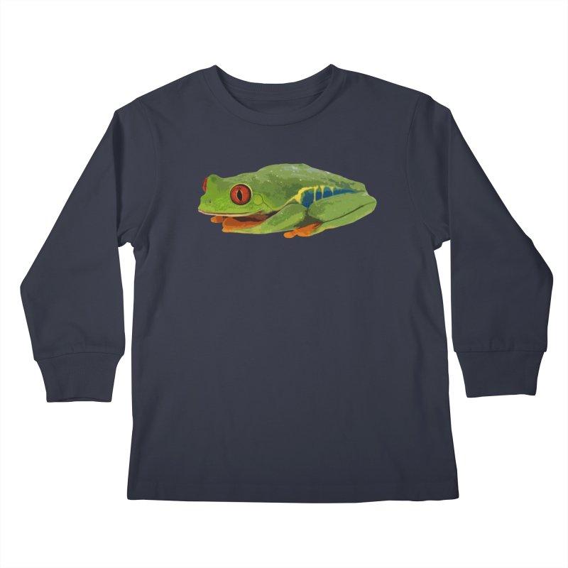 Red-Eyed Tree Frog Kids Longsleeve T-Shirt by Gary Mc Alea Photography's Artist Shop