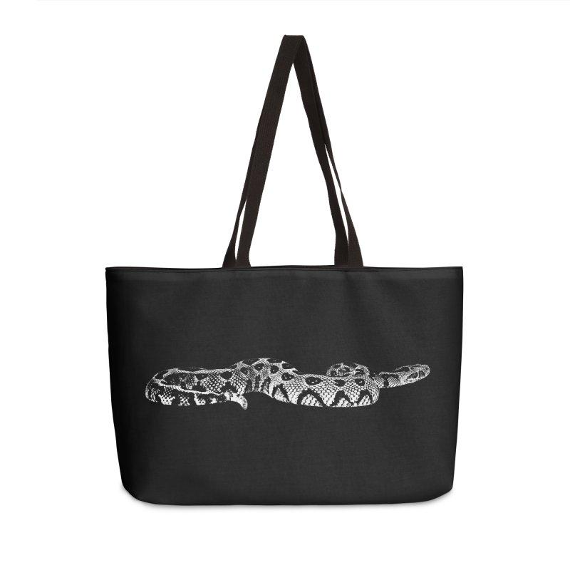 Bitis Parviocula Living Topography Line Art Accessories Bag by Gary Mc Alea Photography's Artist Shop