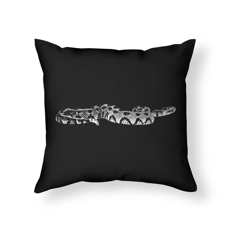 Bitis Parviocula Living Topography Line Art Home Throw Pillow by Gary Mc Alea Photography's Artist Shop