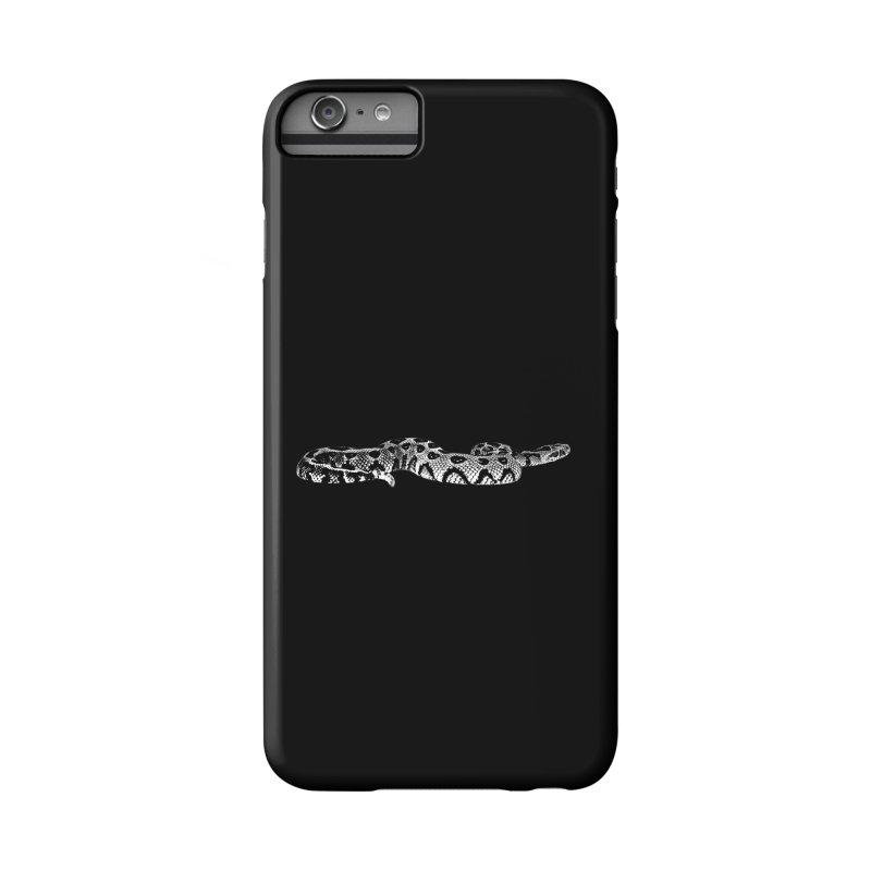 Bitis Parviocula Living Topography Line Art Accessories Phone Case by Gary Mc Alea Photography's Artist Shop