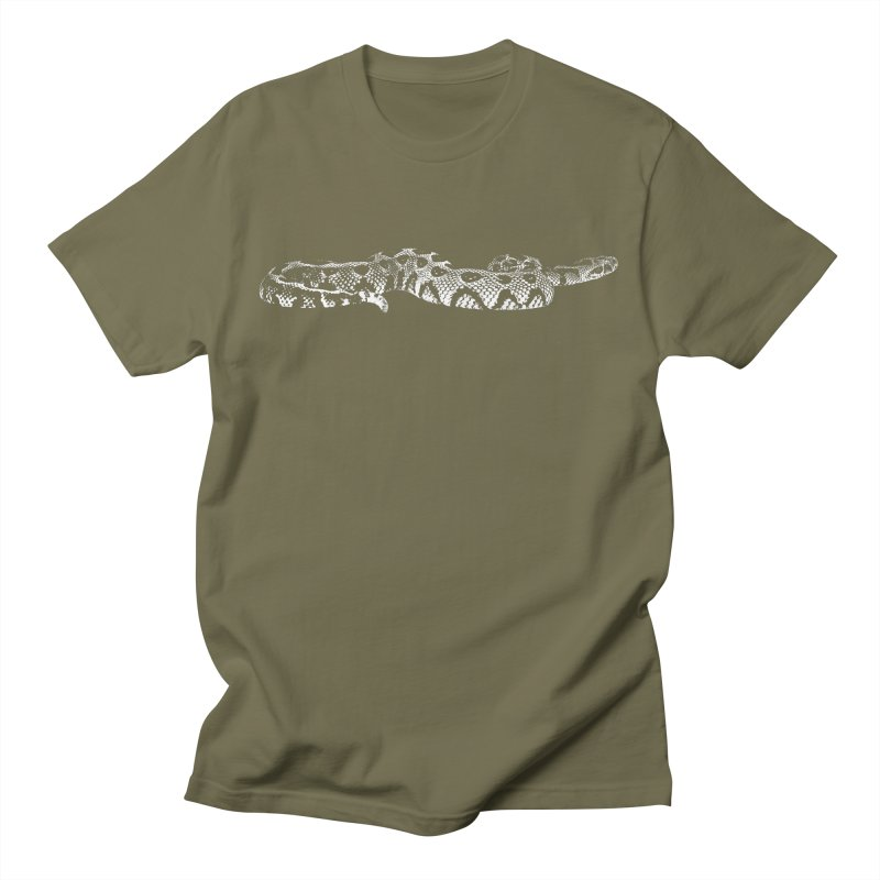 Bitis Parviocula Living Topography Line Art Men's T-Shirt by Gary Mc Alea Photography's Artist Shop