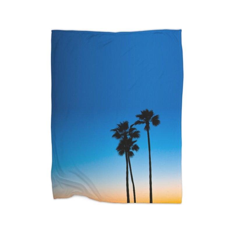 Sunset on the Island Home Blanket by Gary Mc Alea Photography's Artist Shop