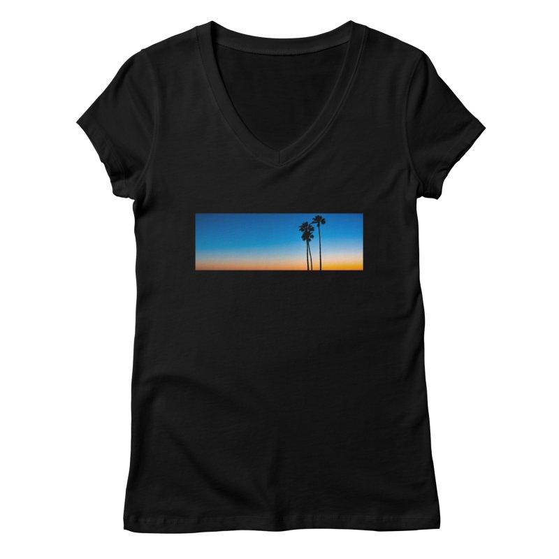 Sunset on the Island Women's V-Neck by Gary Mc Alea Photography's Artist Shop
