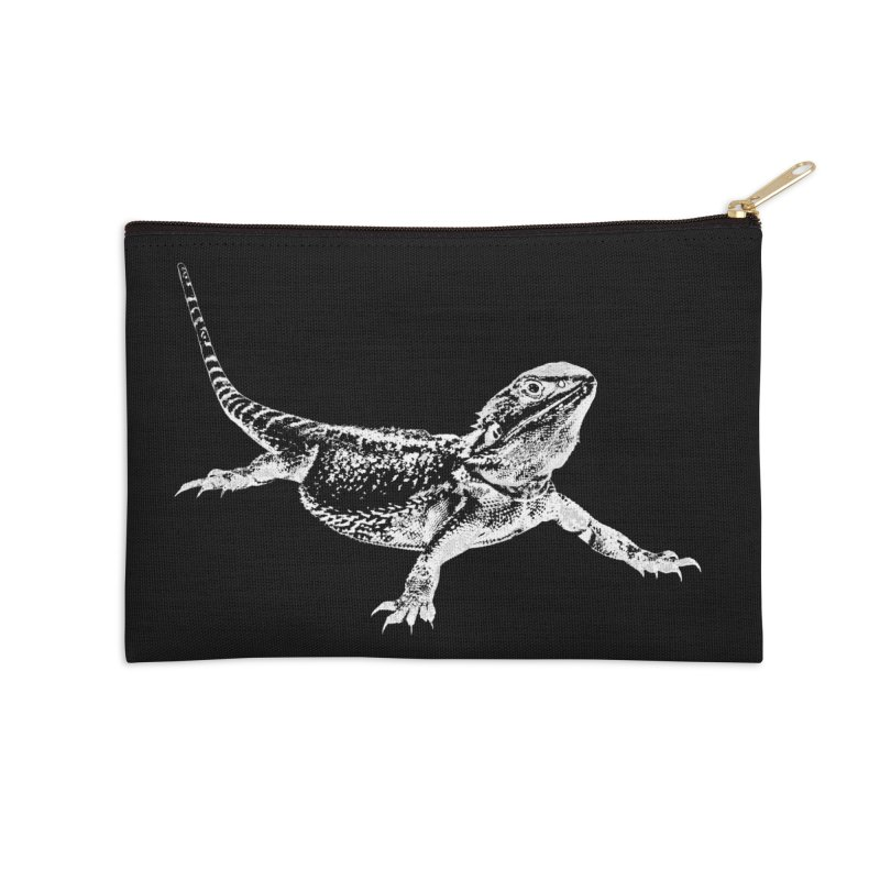 Bearded Dragon Accessories Zip Pouch by Gary Mc Alea Photography's Artist Shop