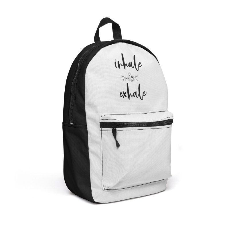 INHALE Accessories Backpack Bag by gasponce