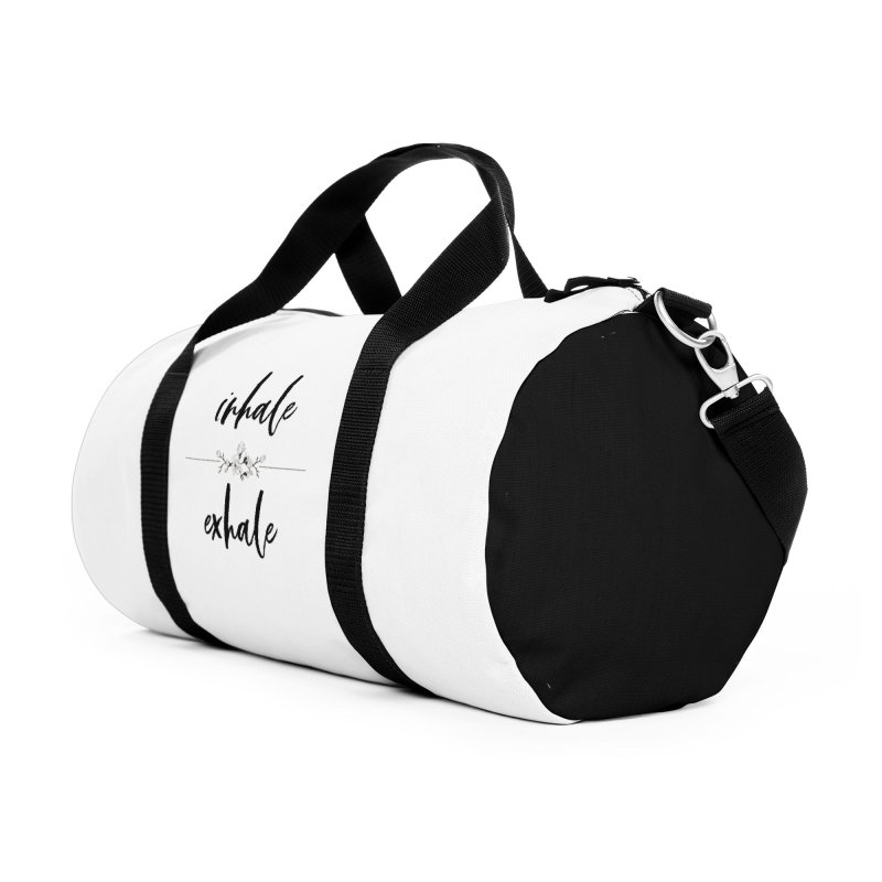 INHALE Accessories Duffel Bag Bag by gasponce