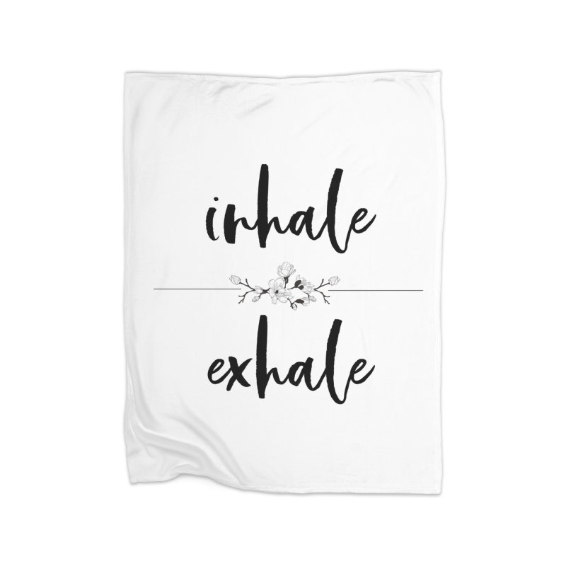 INHALE Home Fleece Blanket Blanket by gasponce