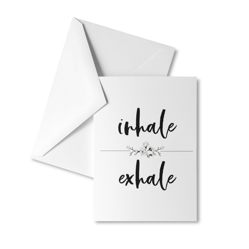 INHALE Accessories Greeting Card by gasponce