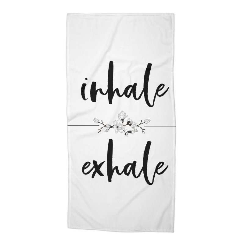 INHALE Accessories Beach Towel by gasponce