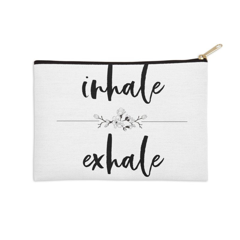 INHALE Accessories Zip Pouch by gasponce