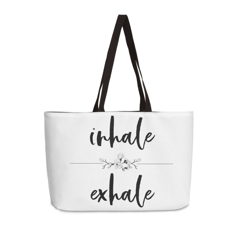 INHALE Accessories Weekender Bag Bag by gasponce