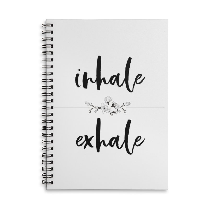 INHALE Accessories Lined Spiral Notebook by gasponce