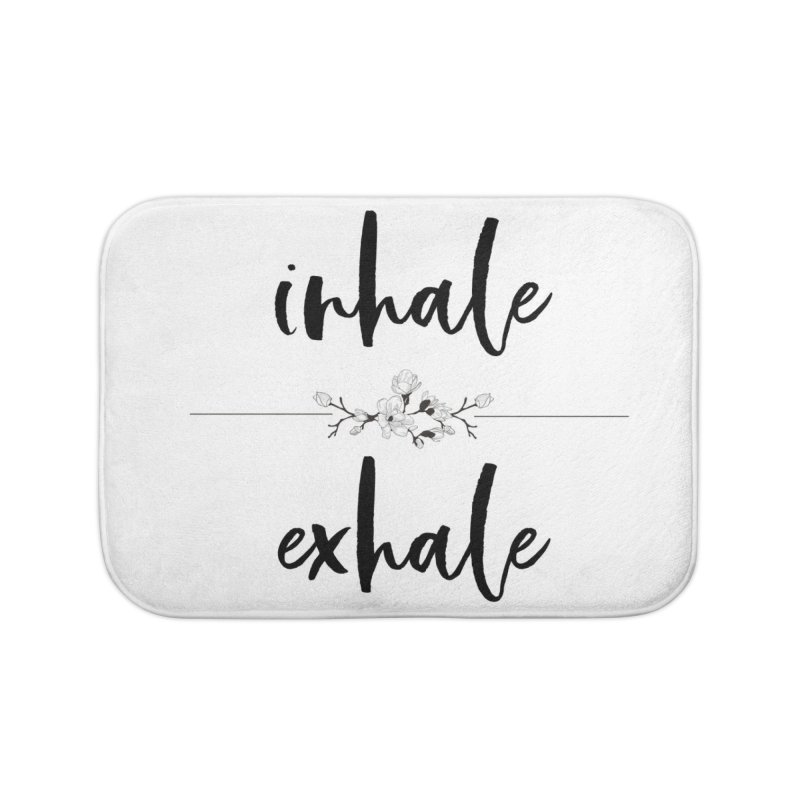 INHALE Home Bath Mat by gasponce