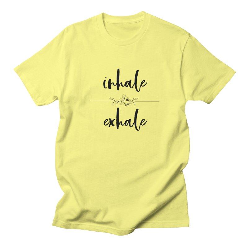 INHALE Men's Regular T-Shirt by gasponce