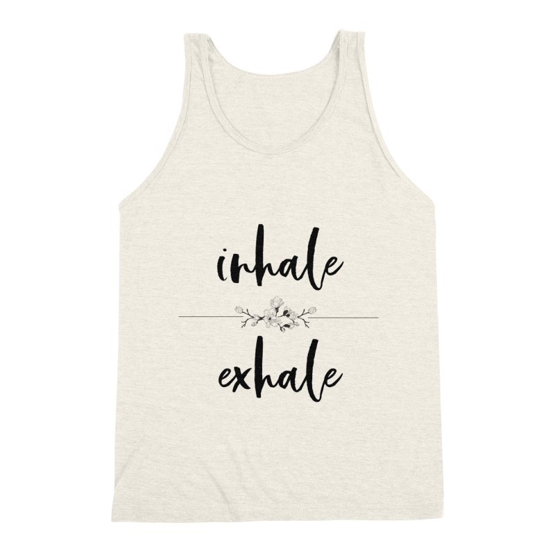 INHALE Men's Triblend Tank by gasponce