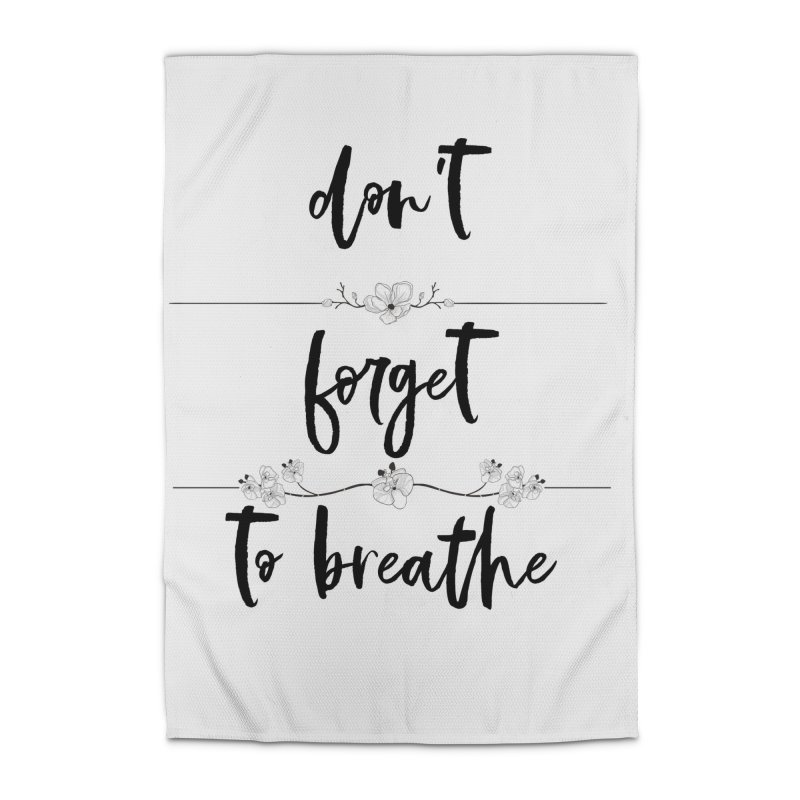 BREATHE! Home Rug by gasponce