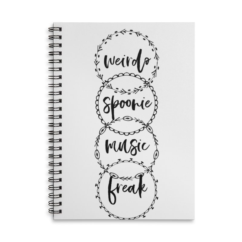 WEIRDO Accessories Lined Spiral Notebook by gasponce