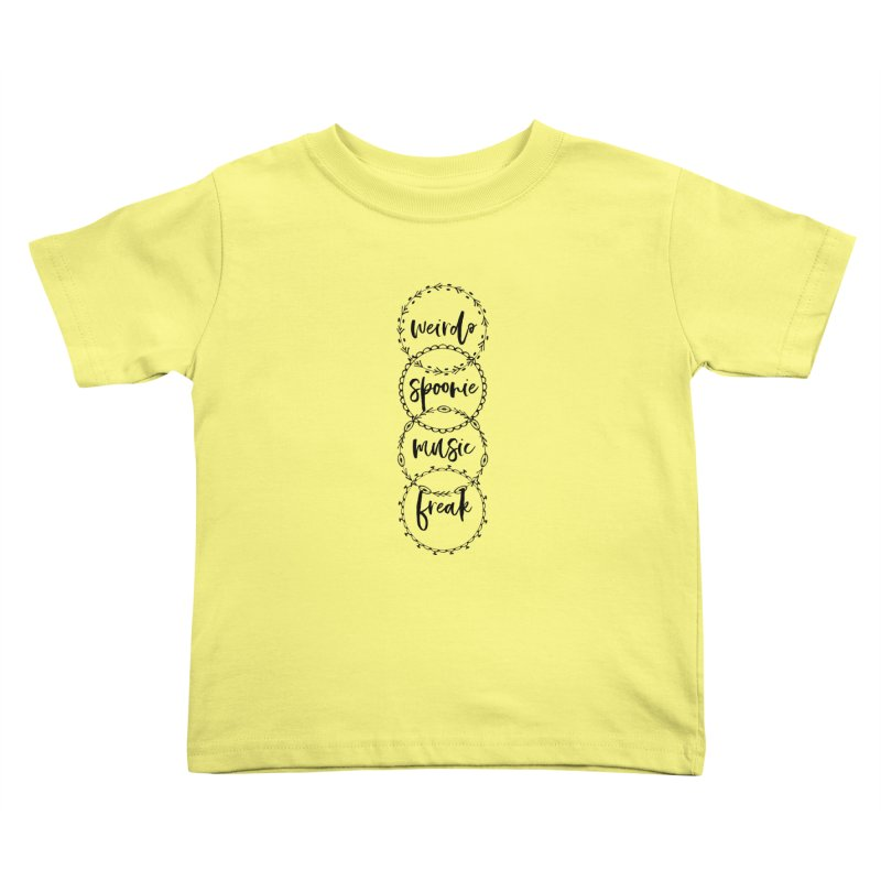 WEIRDO Kids Toddler T-Shirt by gasponce