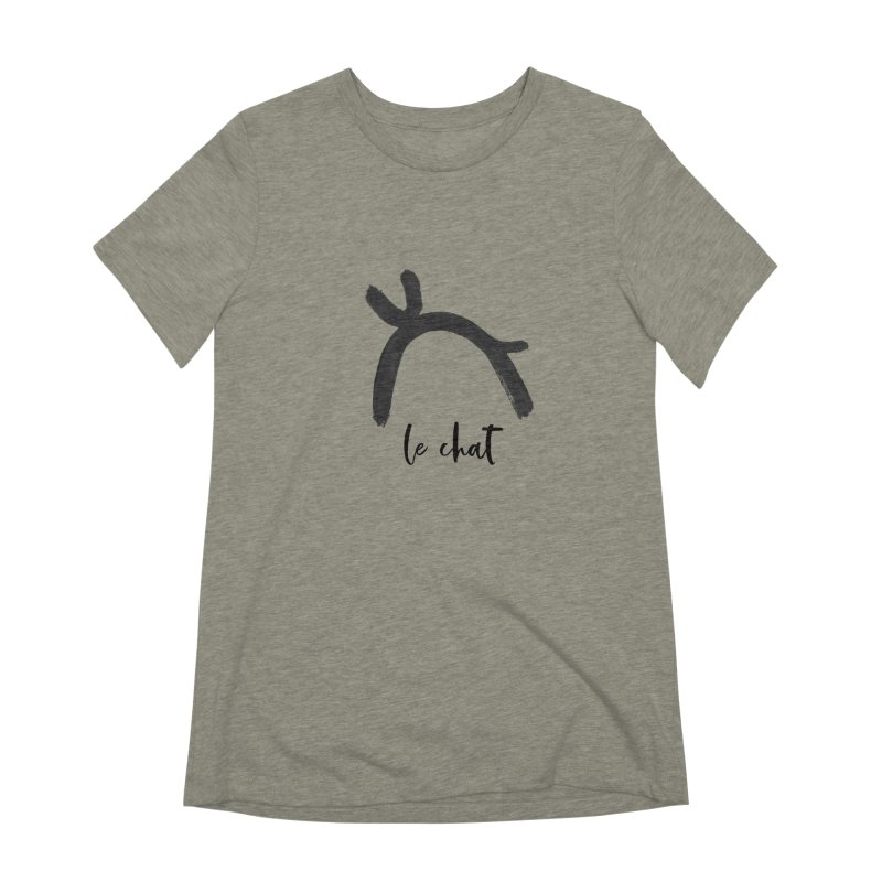 LE CHAT! Women's Extra Soft T-Shirt by gasponce