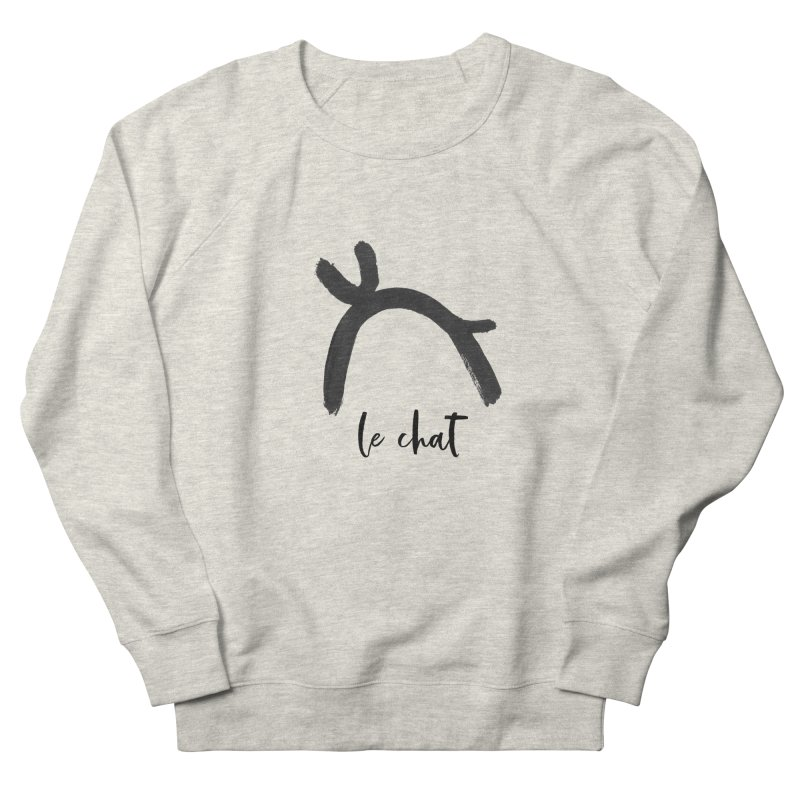 LE CHAT! Women's French Terry Sweatshirt by gasponce
