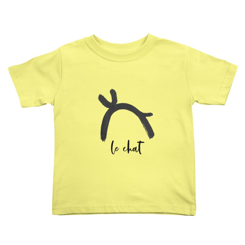 LE CHAT! Kids Toddler T-Shirt by gasponce