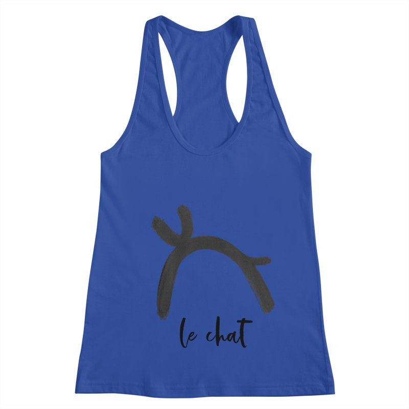 LE CHAT! Women's Racerback Tank by gasponce
