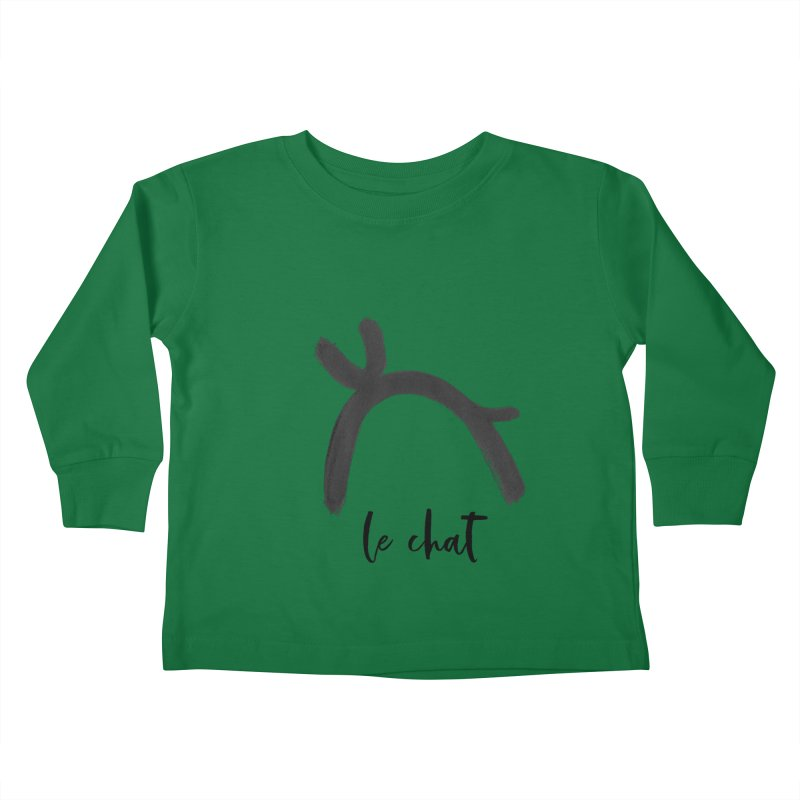 LE CHAT! Kids Toddler Longsleeve T-Shirt by gasponce