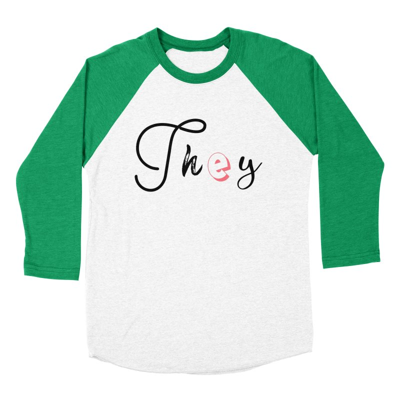 They! Women's Baseball Triblend Longsleeve T-Shirt by gasponce
