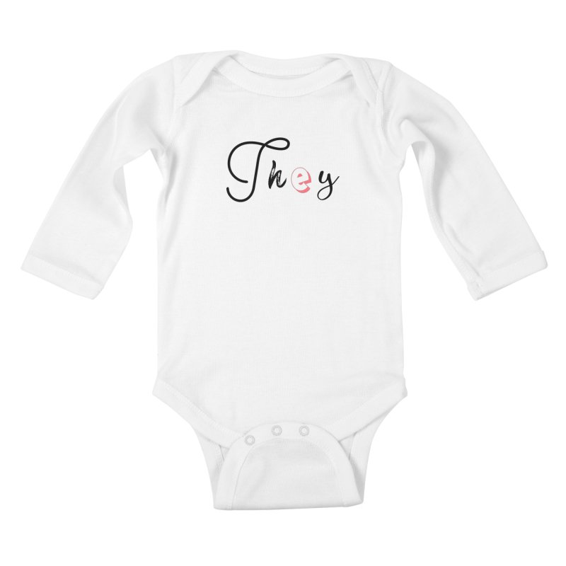 They! Kids Baby Longsleeve Bodysuit by gasponce