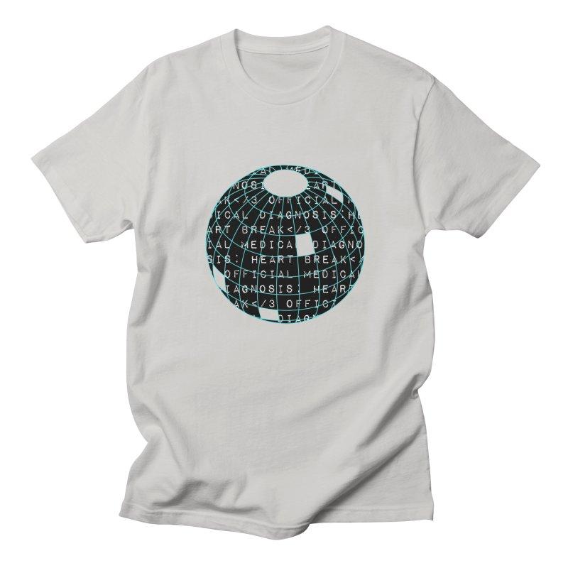 HEART</3BREAK black Men's T-Shirt by gasponce