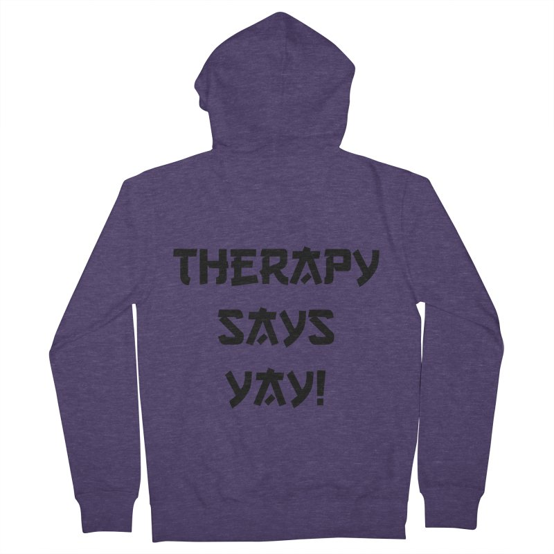 THERAPY! Men's Zip-Up Hoody by gasponce
