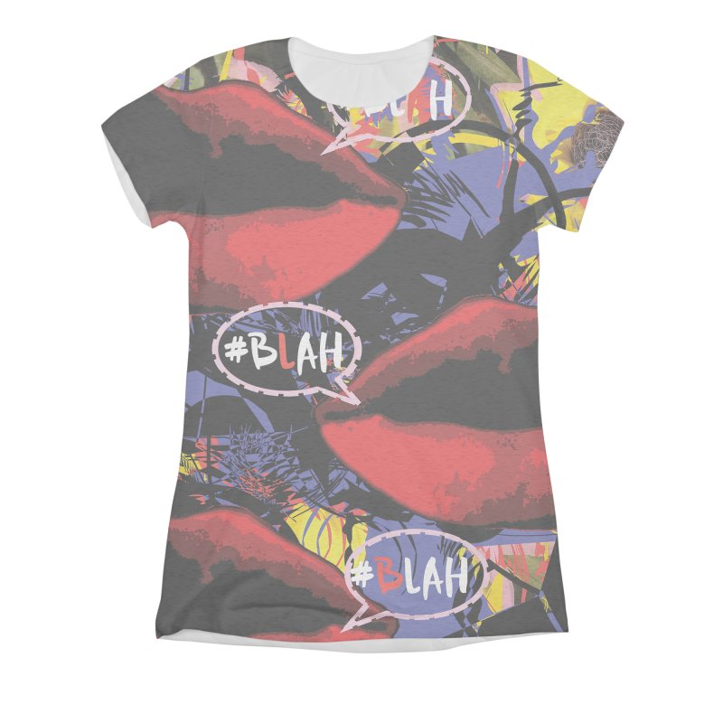 BLAH! BLAH! Women's Triblend All Over Print by gasponce