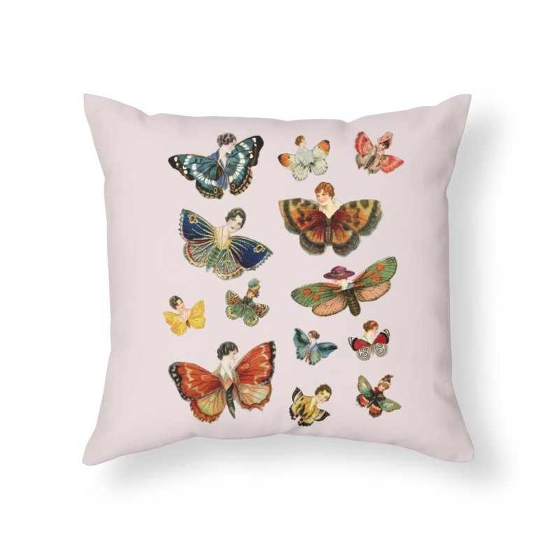 LADY BUTTERFLIES! in Throw Pillow by gasponce
