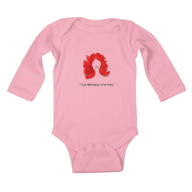 PRINCESS HAIR! white Kids Baby Longsleeve Bodysuit by gasponce