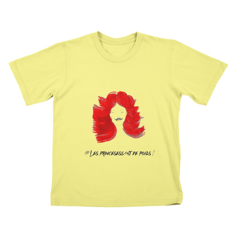PRINCESS HAIR! white Kids T-shirt by gasponce