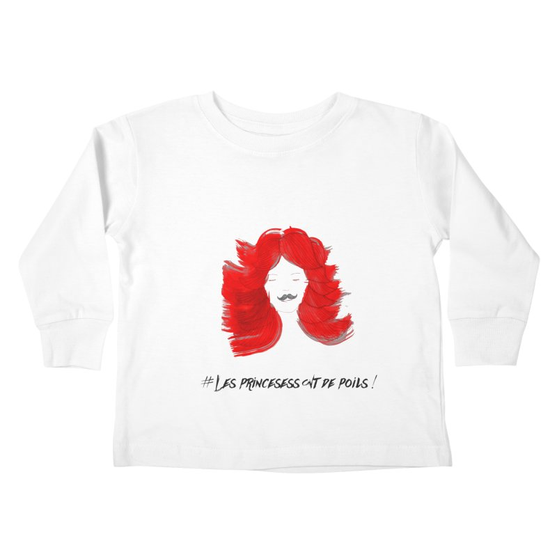 PRINCESS HAIR! white Kids Toddler Longsleeve T-Shirt by gasponce