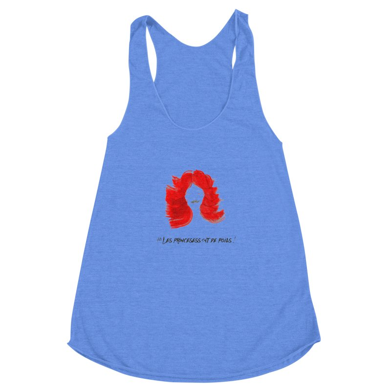 PRINCESS HAIR! white Women's Racerback Triblend Tank by gasponce