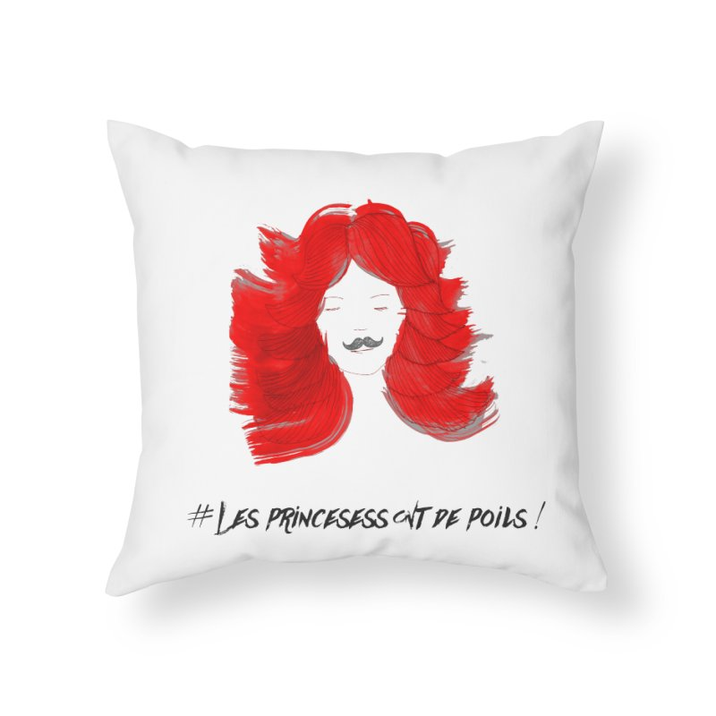 PRINCESS HAIR! white Home Throw Pillow by gasponce