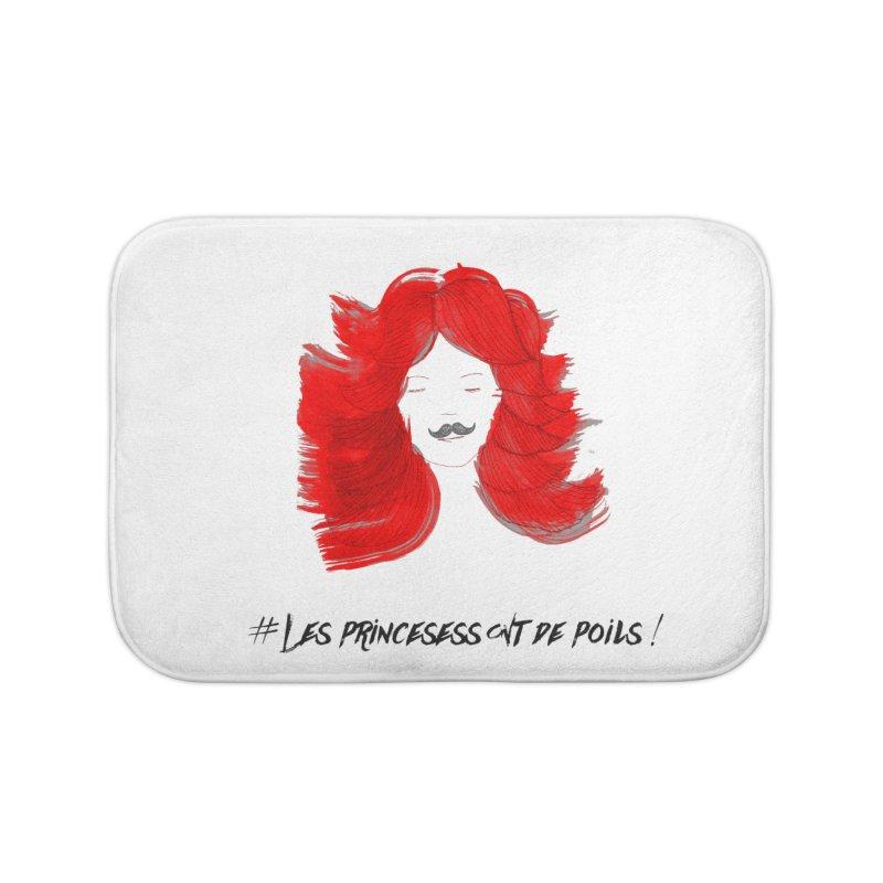 PRINCESS HAIR! white Home Bath Mat by gasponce