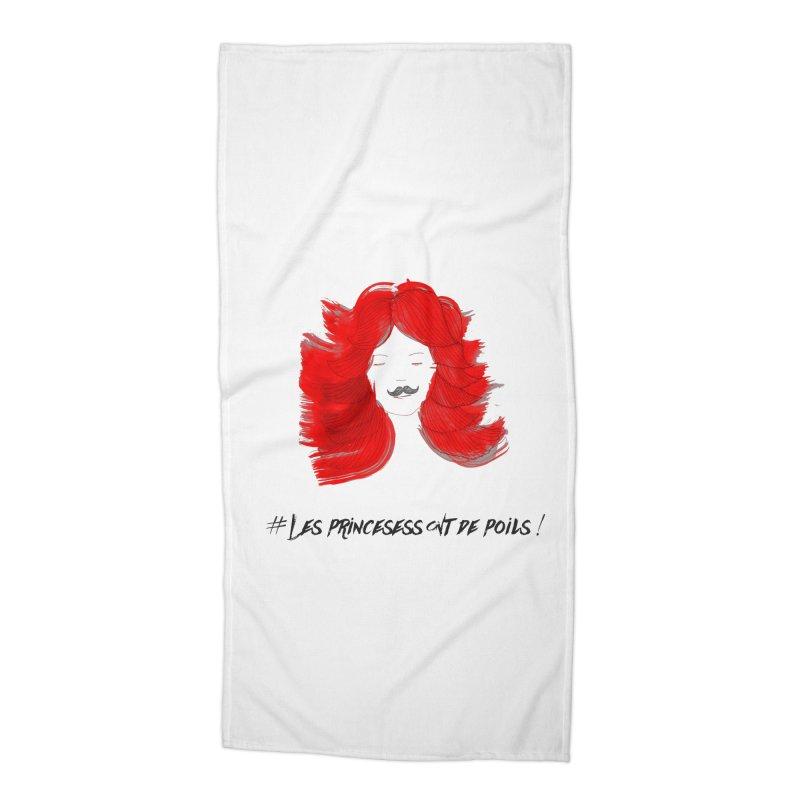 PRINCESS HAIR! white Accessories Beach Towel by gasponce