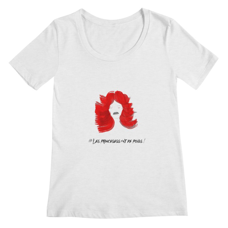 PRINCESS HAIR! Women's Scoopneck by gasponce