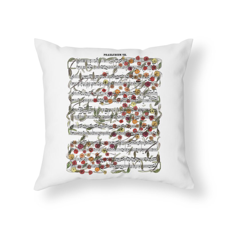 PRELUDE & FLOWERS Home Throw Pillow by gasponce