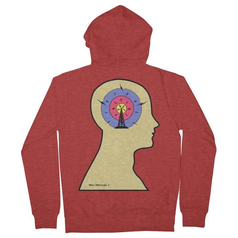 ICONIC ANXIETY! Men's Zip-Up Hoody by gasponce