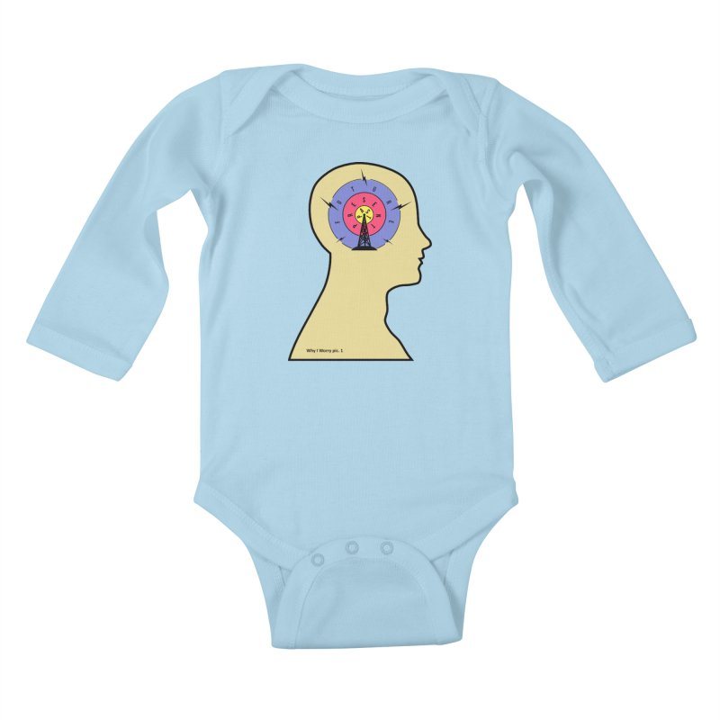 ICONIC ANXIETY! Kids Baby Longsleeve Bodysuit by gasponce