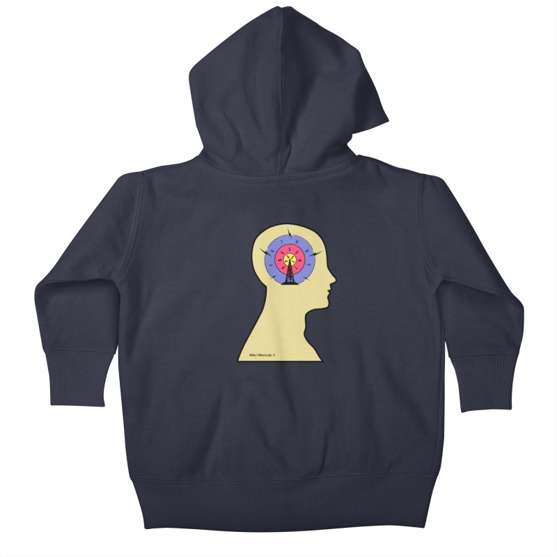 ICONIC ANXIETY! Kids Baby Zip-Up Hoody by gasponce