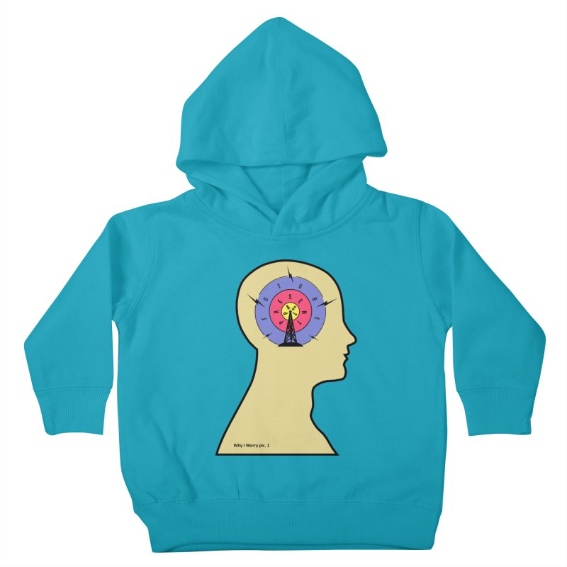 ICONIC ANXIETY! Kids Toddler Pullover Hoody by gasponce