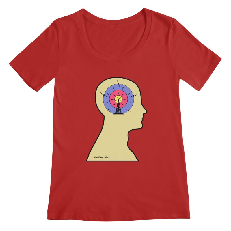 ICONIC ANXIETY! Women's Scoopneck by gasponce